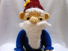 Gnome Doll Crocheted with Butterfly on Cap by KatesCache on Etsy, $30.00