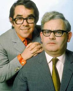 "Ronnie Corbett & Ronnie Barker loved them .just Read Robbie Corbett's Autobiography of the Two Ronnies ""And it's goodnight from him"" loved it brought back great memories of there shows British Comedy, British Actors, British Tv Comedies, English Comedy, The Two Ronnies, Ronnie Corbett, Ronnie Barker, Classic Comedies, Uk Tv"