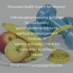 Do you have fitness goals you've been struggling to reach? I am here to help! Ladies-contact me for more information. I want to help you achieve a healthy lifestyle that's maintainable over the long haul! Email tremmert314@gmail.com for more info.
