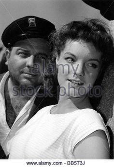 movie, 'Scampolo', DEU 1958, director: Alfred Weidenmann, scene with: Wolfgang Wahl, Romy Schneider, romance, half - Stock Photo