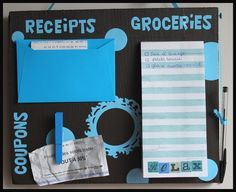 THE MARRIED LIFE: Shopping Organization Board-Clever & creative way to get organized for shopping.