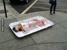 Not sure if PETA protest or just new Dexter episode Dexter, Best Funny Pictures, Funny Pics, Funny Stuff, Picture Movie, Moving Pictures, Peta, Happy Girls, Laugh Out Loud