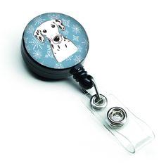 Snowflake Dalmatian Retractable Badge Reel BB1644BR