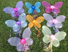 6 Tinkerbell Fairy Princess Wings and Wands, Princess Fairy Party  | partiesandfun - Clothing on ArtFire