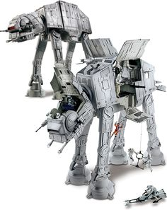 The new Hasbro Star Wars AT-AT ($100) is a behemoth toy worthy of the All Terrain Armored Transport name, measuring in at over two feet tall, nearly 28 inches long, and 12 inches wide, with room inside for up to 20 action figures, LED lights, authentic movie sounds and phrases