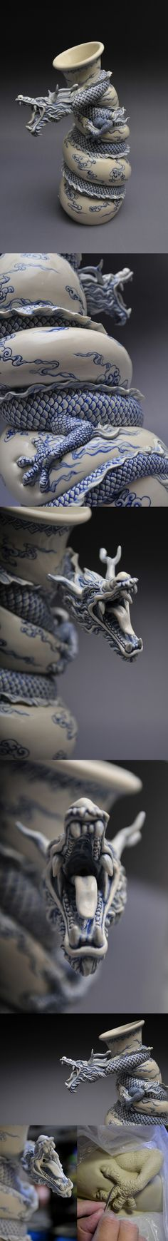 A Dragon Teapot by Johnson Tsang tea sculpture ceramics