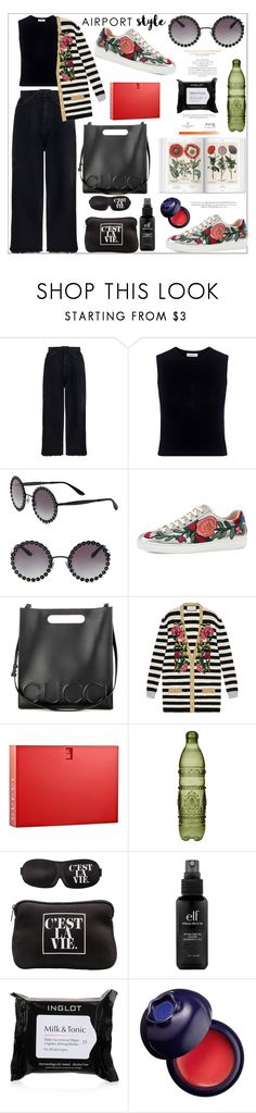 """Simple days"" by mood-chic ❤ liked on Polyvore featuring Zimmermann, A.L.C., Dolce&Gabbana, Gucci, Baci, MyTagalongs, e.l.f., Inglot, Charlotte Russe and airportstyle"