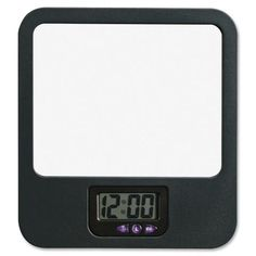Lorell Fabric Panel Digital Clock Mirror LLR80670,  (UPC:035255806701)