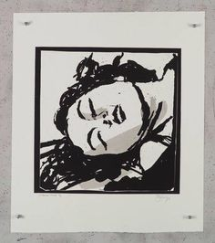 """Greatmore Kentridge Raffle: Please buy a ticket to win an original Kentridge linocut. Your Tickets are R105.00 each and are available to purchase online from Quicket at: http://www.quicket.co.za/events/26160-greatmore-studio-raffle-for-william-kentridge-#/ Details of artwork: William Kentridge, """"Lulu"""", 2016, Linocut with hand painting on Hannemuhle 300 gsm, 52 x 52, 5cm, Edition: 8/10, Printed by: MK & Artist. Printer: Mlungisi Kongisa"""