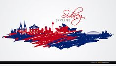 This background shows the skyline of Sidney in Australia; you can see many landmarks of this great city like the Opera House, Harbor Bridge, Hyde Park Barracks, Tower Eye, Sat Mary's Cathedral, and more. High quality JPG included. Under Commons 4.0. Attribution License.