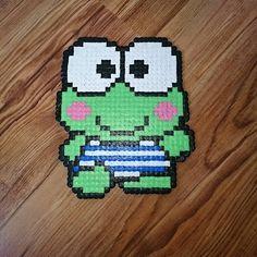#frog #cute #kids #animals #beadsprite #pixelart #hamabeads #beads #8bit #pixel #gift