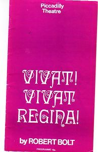 Theatre Programme 1971 Vivat Vivat Regina, Judy Parfitt & Margaret Tyzack R.705 starting price just 99p