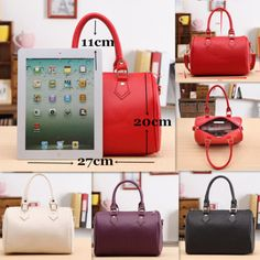 Women's Handbags NEW-Women-Fashion-Handbag-Shoulder-Bags-Tote-PU-Leather-Women-Messenger-Hobo-Bag