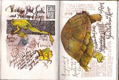 a practice page by Gay Kraeger Textiles Sketchbook, Travel Sketchbook, Sketchbook Pages, Art Journal Pages, Art Journals, Writing Journals, Sketch Journal, Travel Journals, Sketchbook Ideas