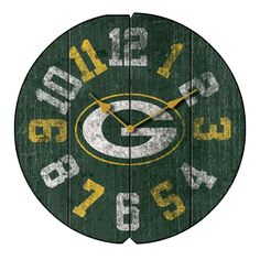 "16"" Green Bay Packers Vintage Wall Clock"