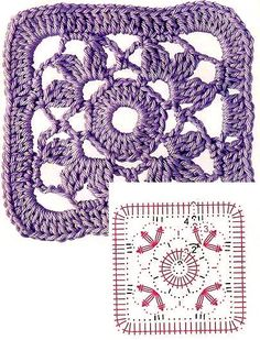 It is a website for handmade creations,with free patterns for croshet and knitting , in many techniques & designs. Granny Pattern, Crochet Coaster Pattern, Crochet Motif Patterns, Crochet Blocks, Crochet Diagram, Crochet Chart, Crochet Squares, Crochet Granny, Granny Squares