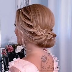 Bridesmaid Hair Tutorial, Honey Brown Hair, Hair Up Styles, Bridal Hairdo, Elegant Wedding Hair, Hair Color Balayage, Bride Hairstyles, Hair Videos, Gorgeous Hair