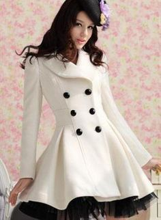 $168.00- Double Breasted Lady Coat Dress