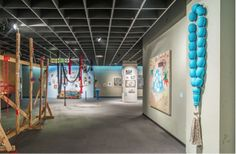 """""""Good Fortune and a Blessing"""" installation view at the Museum of the Jewish People (Beit Hatfutzot) in Tel Aviv, Israel. The group show will be on display through January 2016.   #israeliart #contemporaryart #art"""