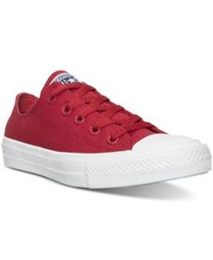 673baecd2ff Converse Boys  Chuck Taylor All Star Ii Ox Casual Sneakers from Finish Line  - RED