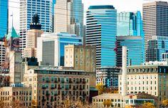 Minneapolis skyline Wall Art   Minnesota skyscraper cityscape home decor   8x10 print