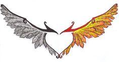 Flame Wings Tattoo Phoenix wings by sarastar Tattoo Dragon And Phoenix, Phoenix Wings, Phoenix Bird Tattoos, Red Tattoos, Feather Tattoos, Tattoo Bird, Wrist Tattoos, Phenix Tattoo, Funny Bird Pictures