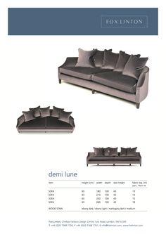 30 best fox linton furniture demi lune sofas images fox foxes rh pinterest com