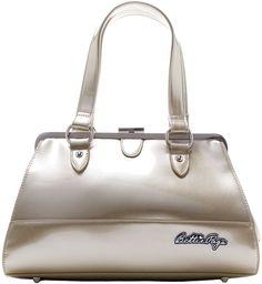 Bettie Page Centerfold Purse Sourpuss bag pin up girl rockabilly retro GOLD #Sourpuss #ShoulderBag #pinup #purse #rockabilly