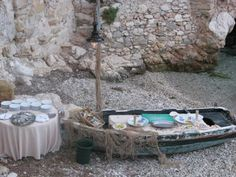 seafood bufet table!! Perfect for a beach wedding in Sicily ;)  weddings@truexperience.ie