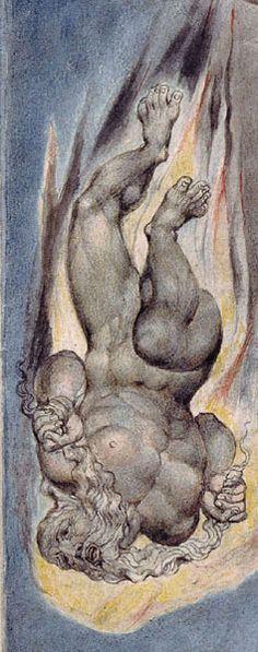 William Blake William Blake Paintings, William Blake Art, Satan, The Modern Prometheus, English Poets, Rare Images, Great Artists, Printmaking, Contemporary Art