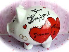 Sparschwein XL Nr. 31 Hochzeit von *M&M Bastelparadies* auf DaWanda.com