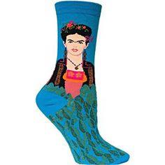 Hot Sox Frida Kahlo Turquoise Women's Socks