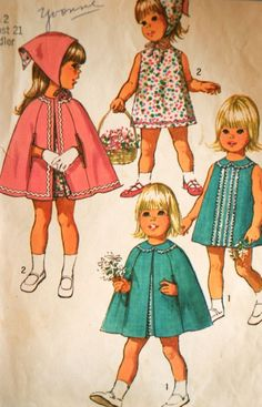 Vintage 1970 Toddler Girl Cape Pattern....my nana made these for e and my sister!  Love you and miss you nana!