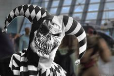 A black and white Joker