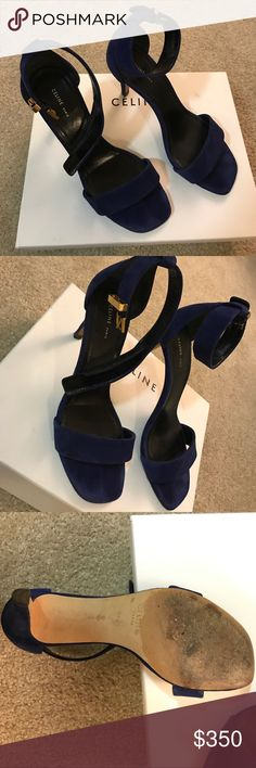 Celine cobalt suede blue heigh heels I love it so much. I don't want to sell it but just because it is a little big for me. I usually go 6. But this one I got 6.5. I only wear it twice!! Celine Shoes Heels