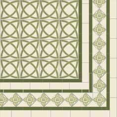 Victorian Floor Tile Dublin Pattern with Galway border