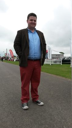 Nicholas Gibbons from Lincoln was looking fabulous. We spotted his quirky jacket and russet trousers combo and loved it! Just add in a pair of baseball boots and you've got a brilliant, youthful look. Barbour, Well Dressed, Dapper, Lincoln, Tweed, Trousers, Baseball, Lady, Boots