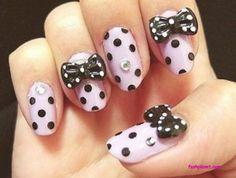 polka-dot  Acrylic Nail designs http://fashplanet.com/2013/04/21/acrylic-nail-designs-summer-2013/