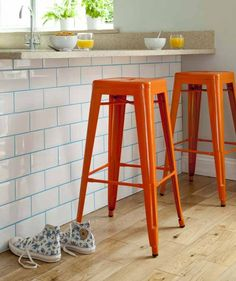 British Ceramic Tile Metro Tiles and Coloured Grout