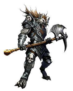 Gnoll Fighter of Rovagug - Pathfinder PFRPG DND D&D d20 fantasy