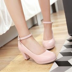 Heel Height: cm Platform Height: - cm Size Note: We send CN size, if your foot is a little wide and fat, we suggest you choose 1 size larger. Size Guide: Euro/CN 34 = US 3 = (Foot Euro/CN 35 = US 4 = (Foot Euro/CN 36 = US 5 = (Foot Euro/CN 37 = US 6 = Ankle Strap Heels, Ankle Straps, Pumps Heels, Stiletto Heels, Chunky Heel Shoes, Strappy Shoes, Sandals Outfit, Platform High Heels, Black Platform