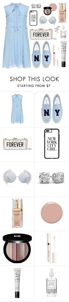 """Baby Blue"" by trendsetter12 ❤ liked on Polyvore featuring N°21, Joshua's, Kate Spade, Casetify, Linda Farrow, Elizabeth Arden, Christian Louboutin, Edward Bess, NARS Cosmetics and Herbivore"