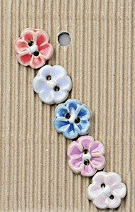 Available in: 5 x pastel colours on white clay (pink, blue, light pink, dark blue, lilac) 5 x turquoise wash on brown clay Approximately Handmade and painted in South Africa. Our Incomparable Buttons are fully machine-washable. Handmade Paint, Handmade Gifts, Button Ornaments, Button Cards, Button Flowers, White Clay, Retro Toys, Clay Jewelry, Ceramic Jewelry