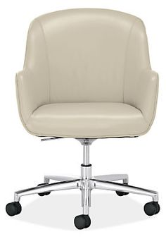 Nico Leather Office Chair - Modern Office Chairs & Task Chairs - Modern Office Furniture - Room & Board