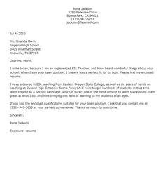 Teacher Cover Letter Sample | Preschool Teacher Cover Letter Sample Application Letter Example