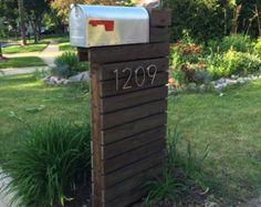 Boîte aux lettres moderne cèdre naturel par ModernistMailbox