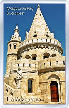 $3.29 - Acrylic Fridge Magnet: Hungary. Budapest. Halaszbastya. Bastion Tower