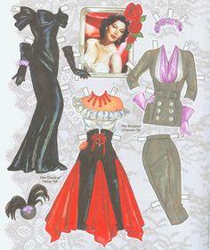 AVA GARDNER 2* 1500 free paper dolls The International Paper Doll Society Arielle Gabriel artist ArtrA  Linked In QuanYin5 *