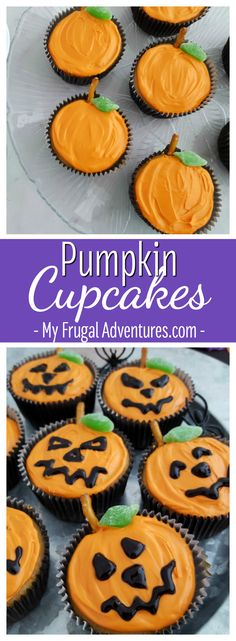 Simple pumpkin cupcake recipe- so fun and so simple for fall or Halloween parties