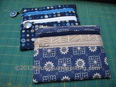 3-zipper pouches - bluewtmk